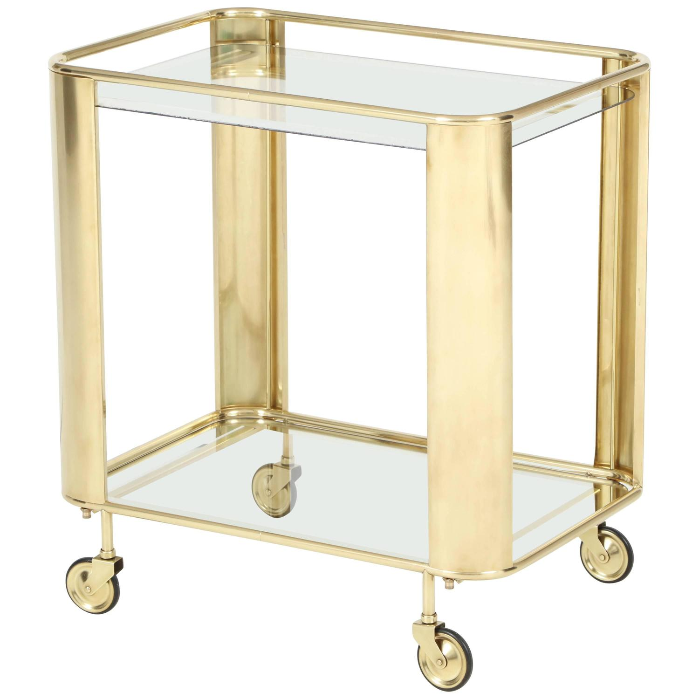 brass bar cart at 1stdibs. Black Bedroom Furniture Sets. Home Design Ideas