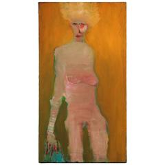 Nude on Mustard Wall