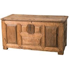 Antique Wooden Trunk from Belgium