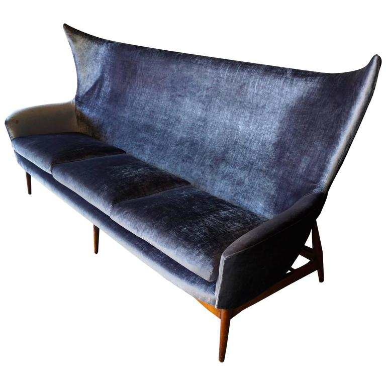 sculptural sofa designed by h w klein for bramin mobler of denmark circa 1950s at 1stdibs. Black Bedroom Furniture Sets. Home Design Ideas
