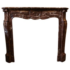 French Louis XV Style Marble Mantel
