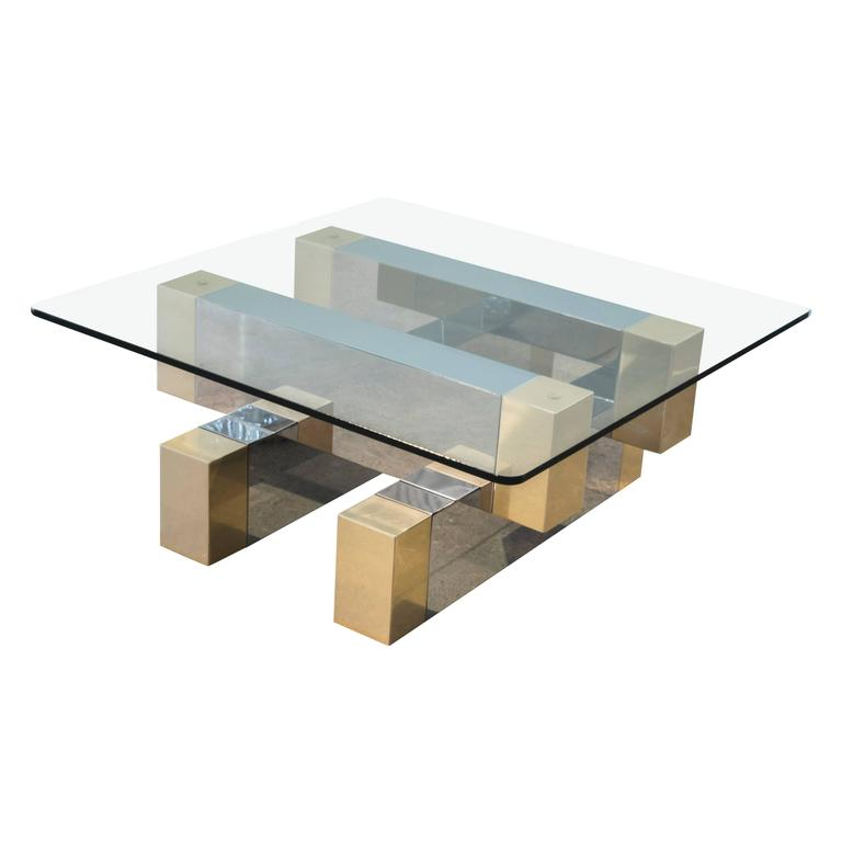 Two-Tone Coffee Table in the Style of Paul Evans