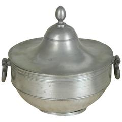 A Dutch Early 19th Century Pewter Tureen with  Cover from Lauren Bacall Estate