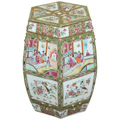 A Chinese Export-Style Famille Rose Porcelain Garden Seat