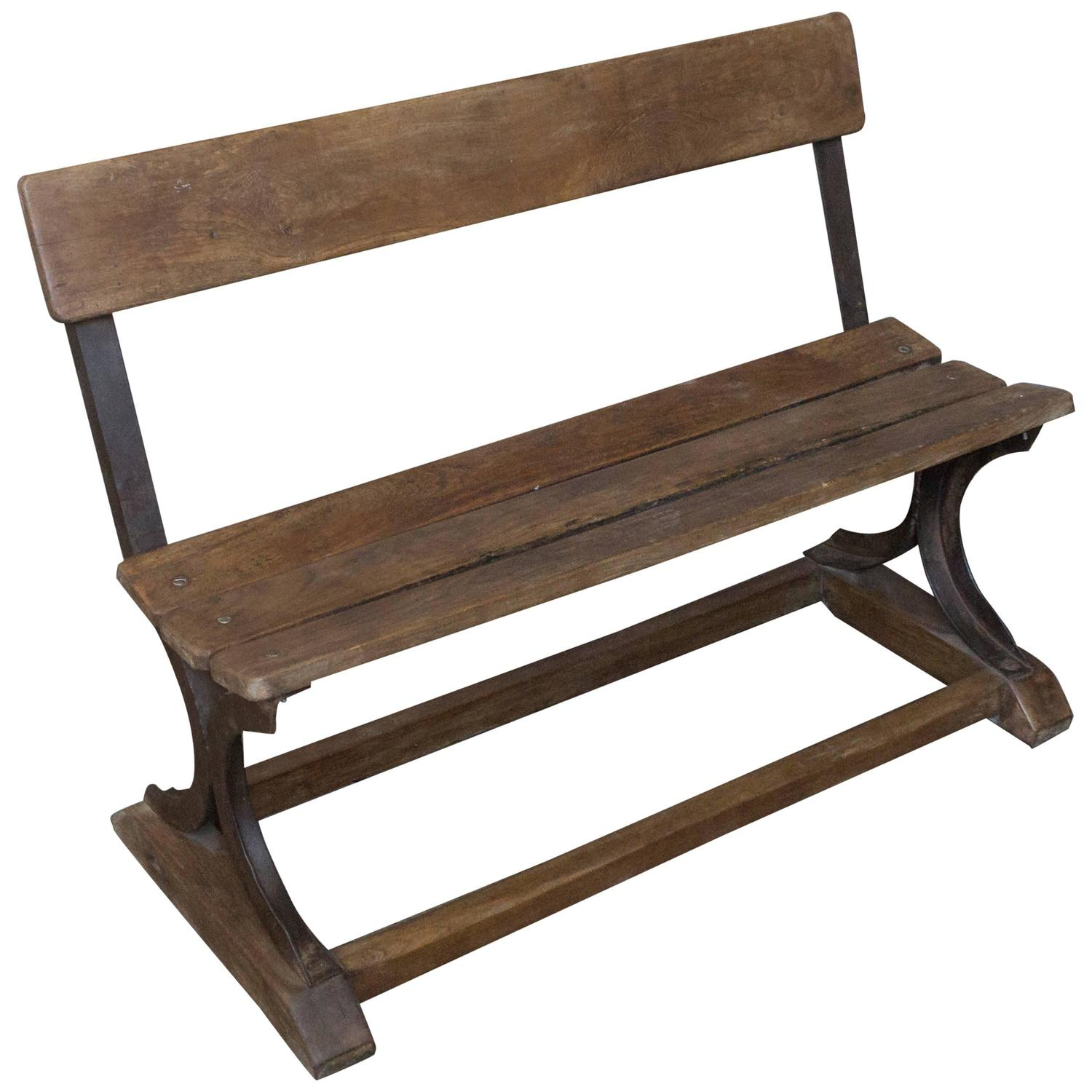 Anglo Indian 1920 39 S Small Wood And Iron Bench For Sale At 1stdibs