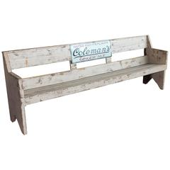 Vintage American Advertising Bench