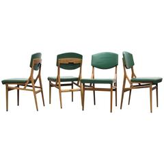 Gio Ponti Cassina Set of Four Dining Chairs