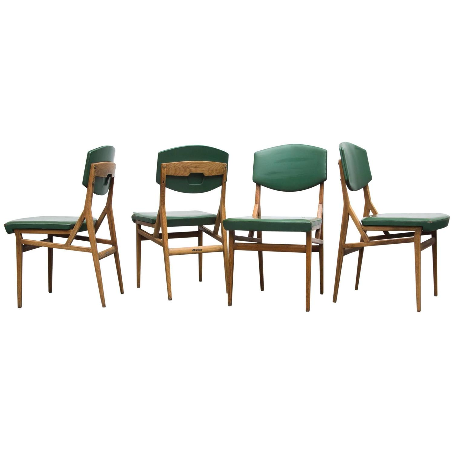 Gio Ponti Cassina Set of Four Dining Chairs at 1stdibs