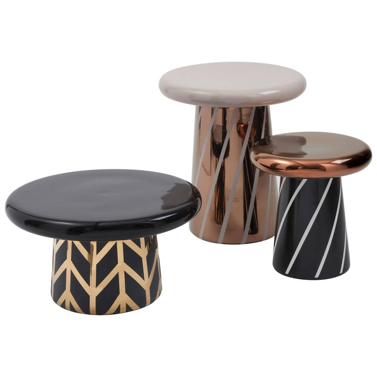 Set of Three T-Tables Special Edition #2 Designed by Jaime Hayon for Bosa