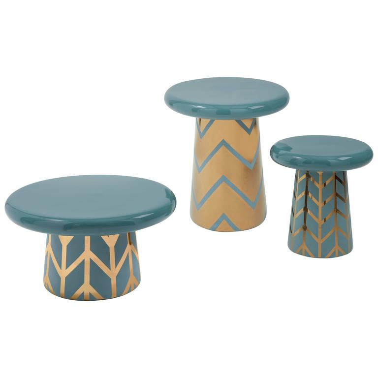 Set of Three T-Tables Special Edition #1 Designed by Jaime Hayon for Bosa