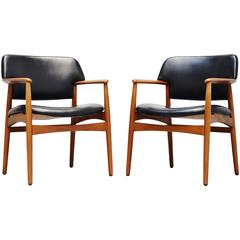 Ejnar Larsen & Aksel Bender Madsen for Fritz Hansen Chairs, 1955
