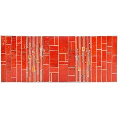 Rogier Vandeweghe Amphora Ceramic Tiles Table, Belgium, 1960