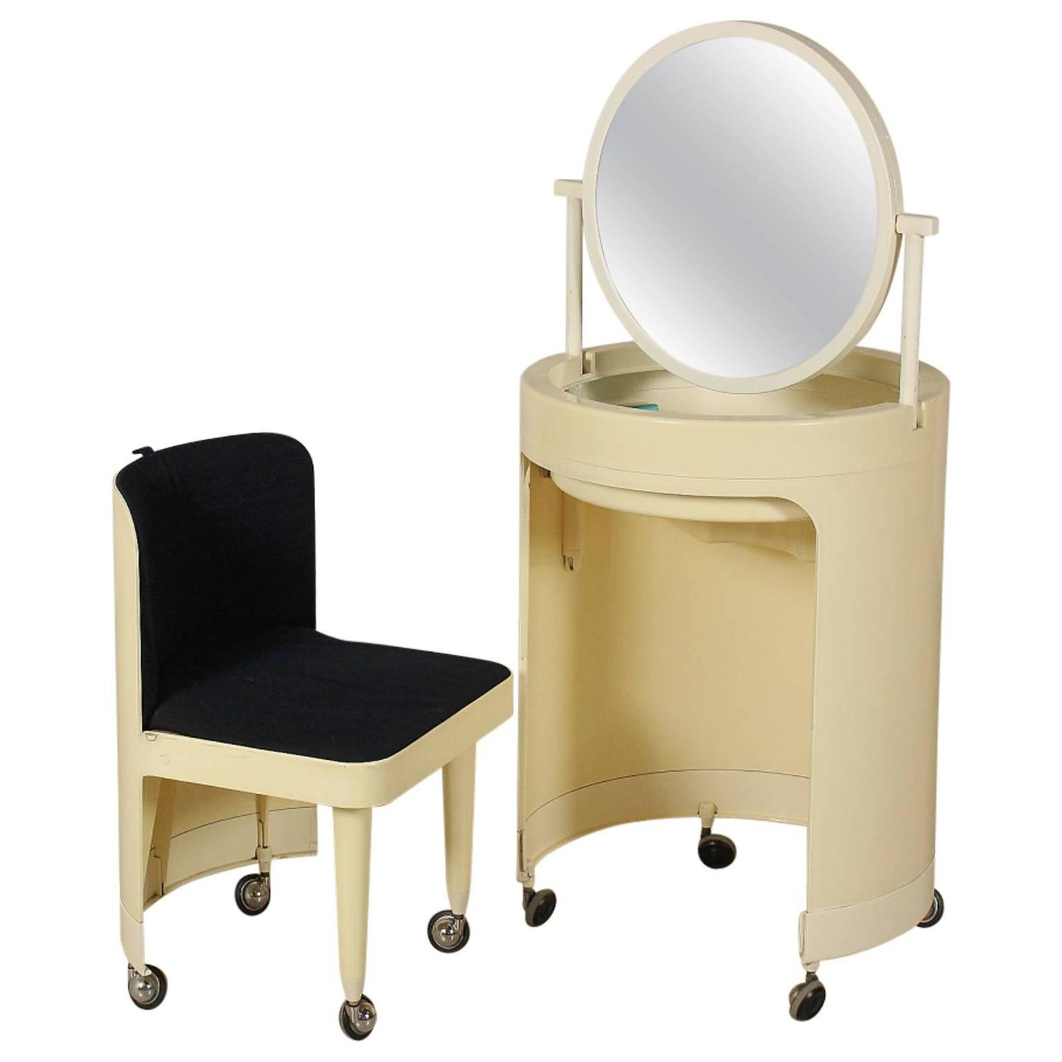Plastic Dressing Table With Mirror Manufactured In Italy 1970s At 1stdibs