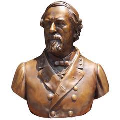 American Bronze Sculpture of General Robert E. Lee, Signed Valentine, C. 1870