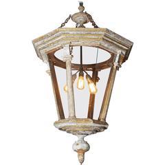 Large Decorative Parcel-Gilt Hall Lantern