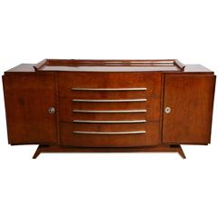 French Art Deco Sideboard in burr of amboyna