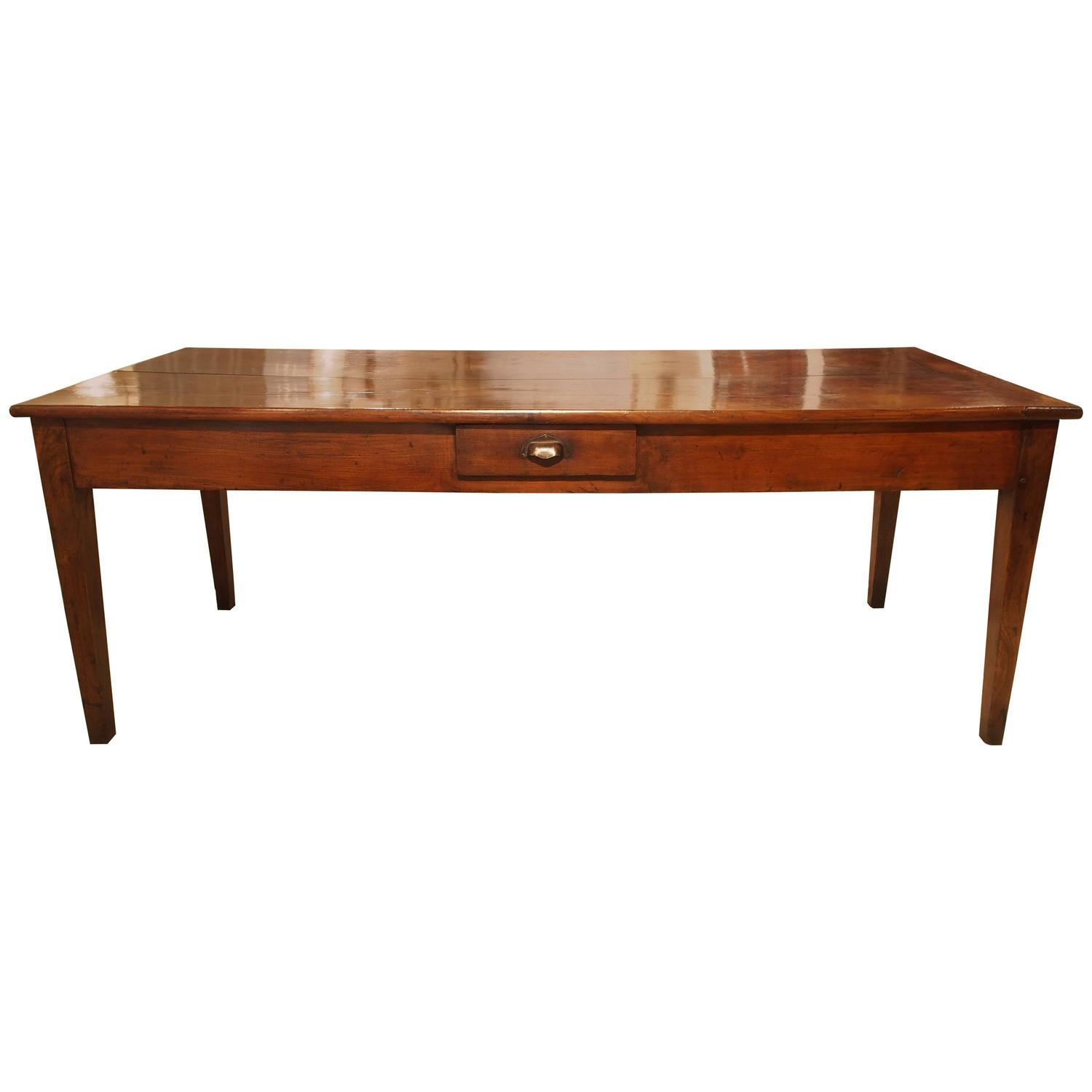 Farm Table in Cherry with Drawer For Sale at 1stdibs