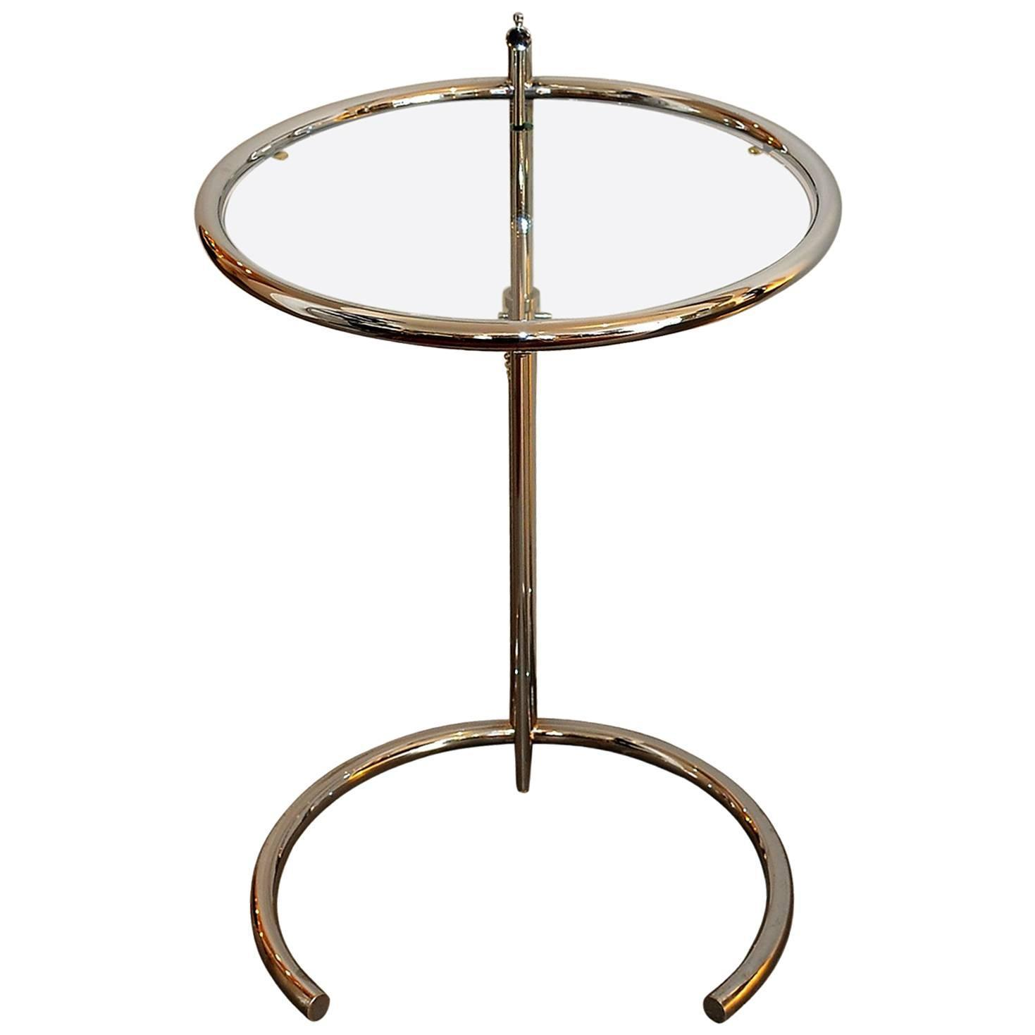 vintage original adjustable table e 1027 eileen gray 1927 at 1stdibs