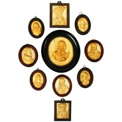 Carved Portrait Miniatures, Late 18th-Early 19th Century