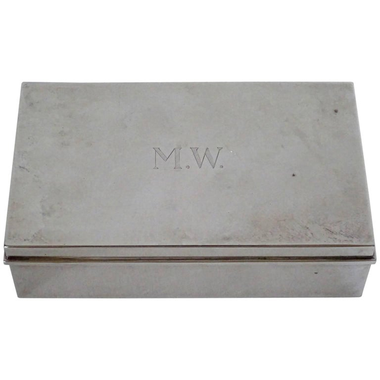 Tiffany & Co. Sterling Silver Cigarette Box For Sale