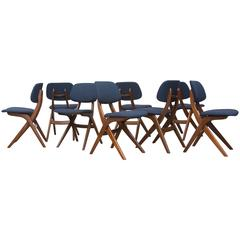Set of Eight Hovmand Olsen Style Dining Chairs by Webe