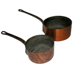19th Century French Copper Sauce Pans