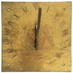 Antique Brass Sundial