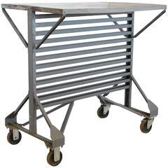 Mid-Century American Industrial Metal Table