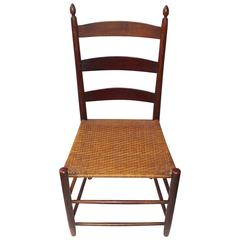 19th Century Mt. Lebanon Shaker Ladder Back and Tilter Side Chair