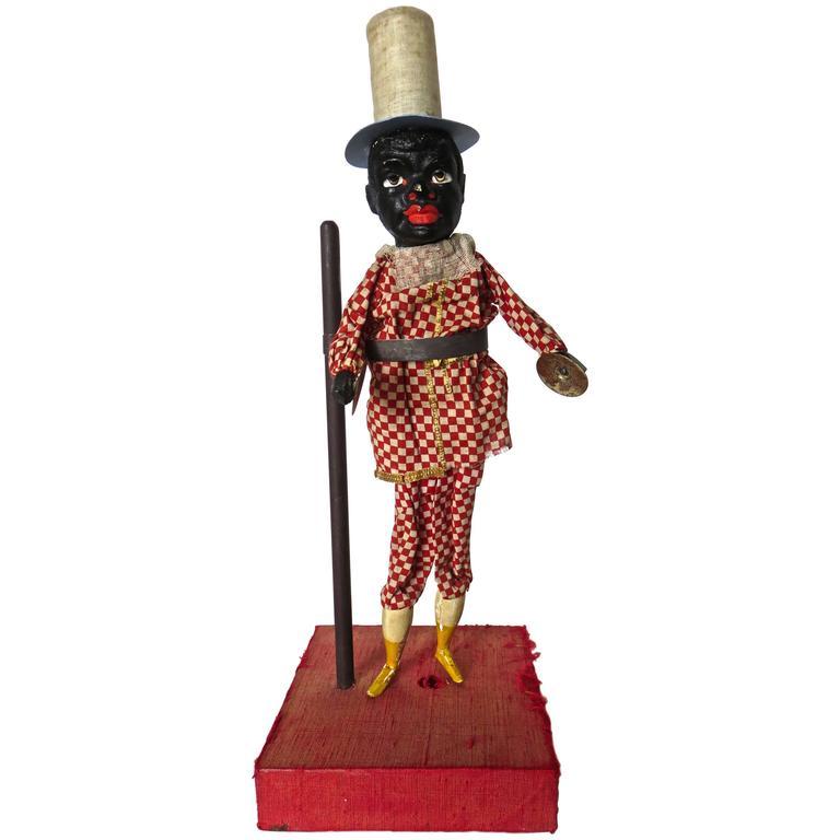 """Black """"Squeak"""" Toy, Probably German, circa 1890"""