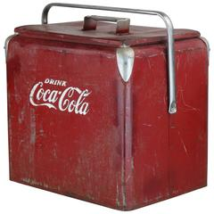 1940s True American Classic Coca-Cola Cooler in Original Retro Condition
