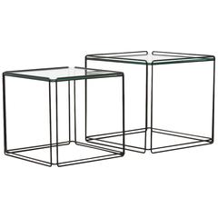 Pair of Max Sauze Wire Cube Nesting Tables