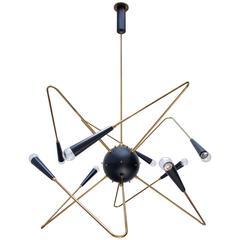 Atomic Sputnik Chandelier by Lumfardo Luminaires