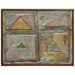 Abstract Painting by American Artist Debora Gilbert Ryan, New York, 1978