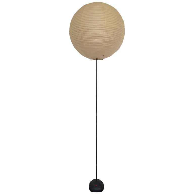 Important isamu noguchi akari floor lamp for sale at 1stdibs for Noguchi paper floor lamp