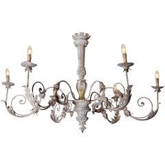 Large Decorative Chandelier Compiled of Antique Elements
