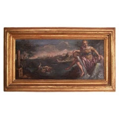 18th Century Italian Painting in Giltwood Frame