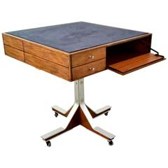 Mid-Century Italian Game Table in the Style of Gianfranco Frattini