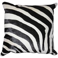 Zebra Cushion in Cowhide