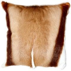 Springbok Cushion, Real Fur