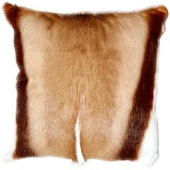 Springbok Cushion, Real Fur