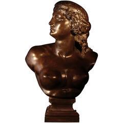 Bust of Ariadne, Jean-Baptiste, Known as Auguste Clésinger, 19th Century