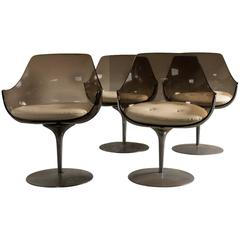 Erwine & Estelle Champagne Chairs, Set of Four, 1960s
