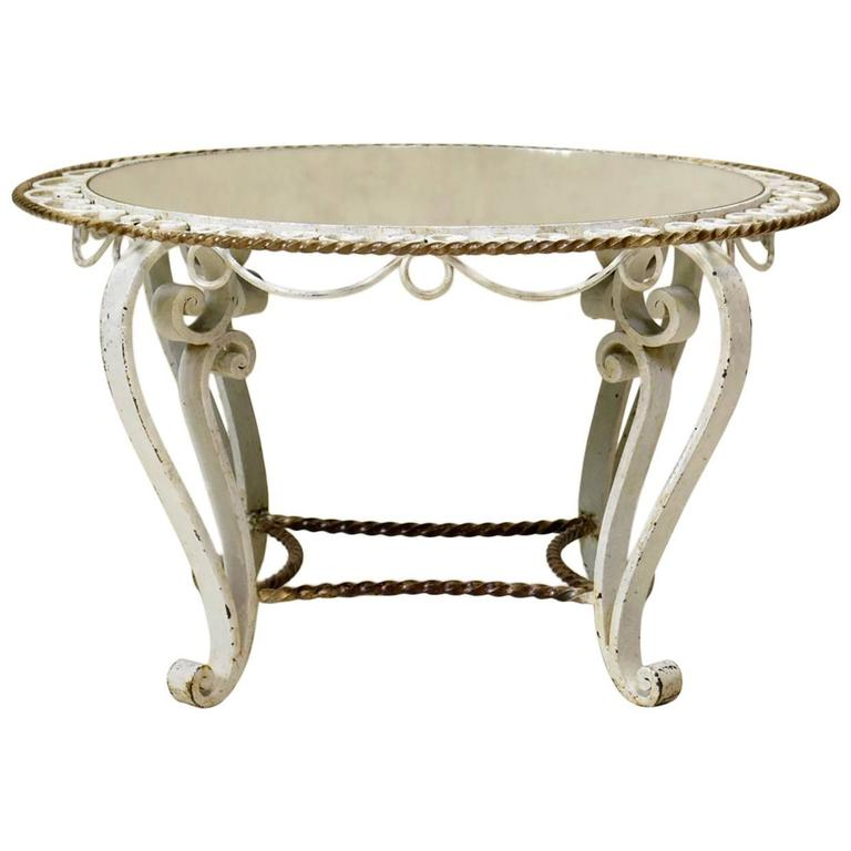 Round Art Deco Coffee Table, France, 1940s For Sale