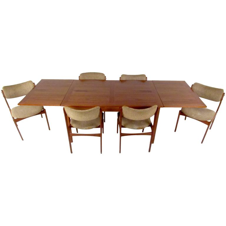 Contemporary Mid Century Dining Set With Table and Chairs by Skovby and O D M¸bler For Sale Lovely - Minimalist cheap dining table and chairs set Minimalist