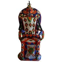 Vintage Handed Beaded African Royal Monument to Yorouba King