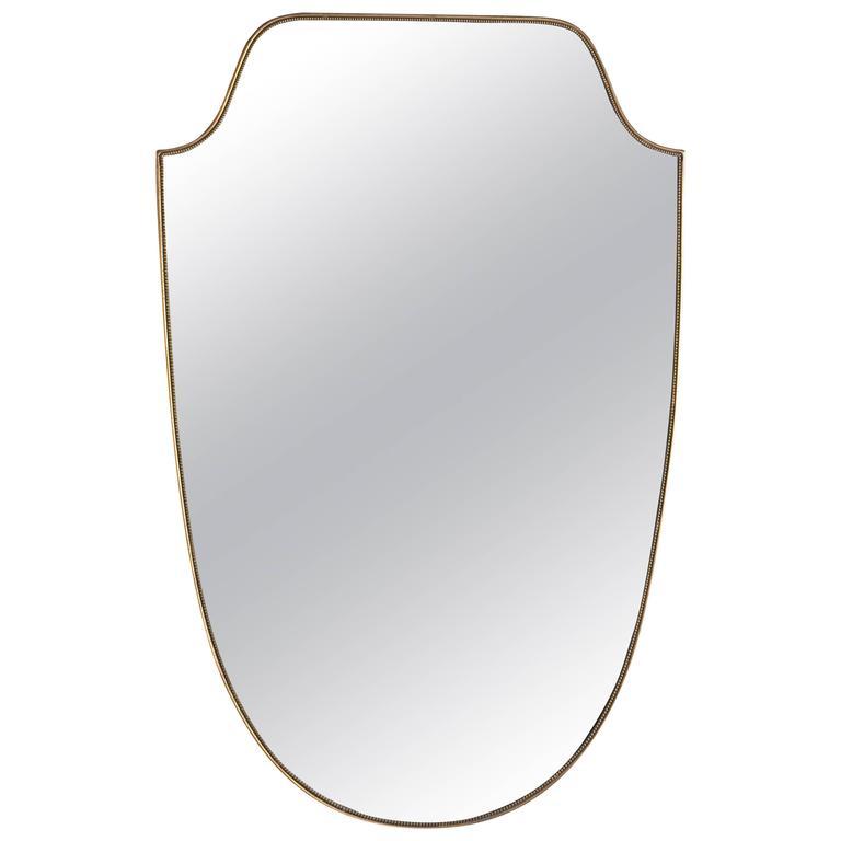 Elegant wall mirror gio ponti style for sale at 1stdibs for Elegant mirrors