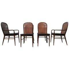Rare Set of Cane Dining Chairs by Paul McCobb for H. Sacks