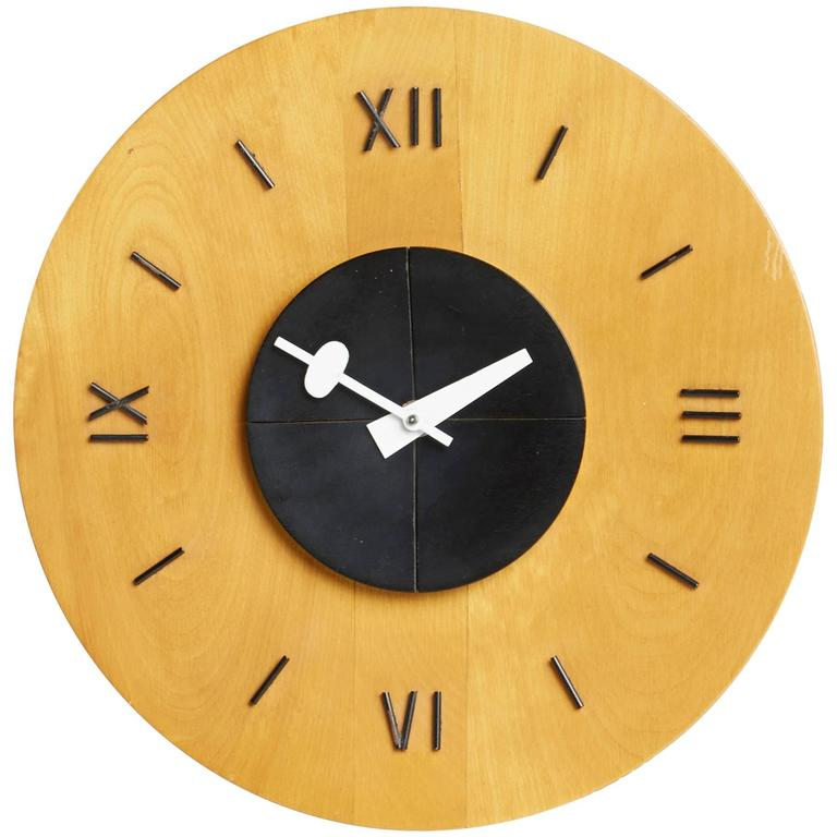 Birchwood Wall Clock by George Nelson for Howard Miller