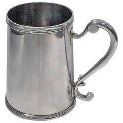 Rare Silver Mug, 18th Century Canadian or French Provincial, Maker's Mark F.C